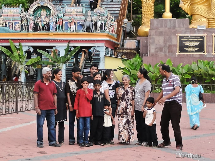 Большая индийская семья