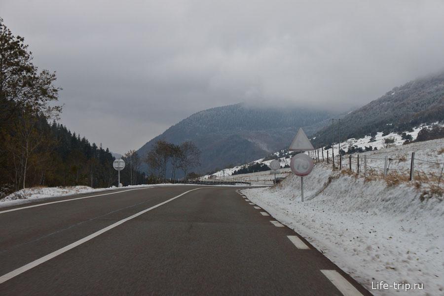 Дороги Франции - зимние пейзажи в октябре