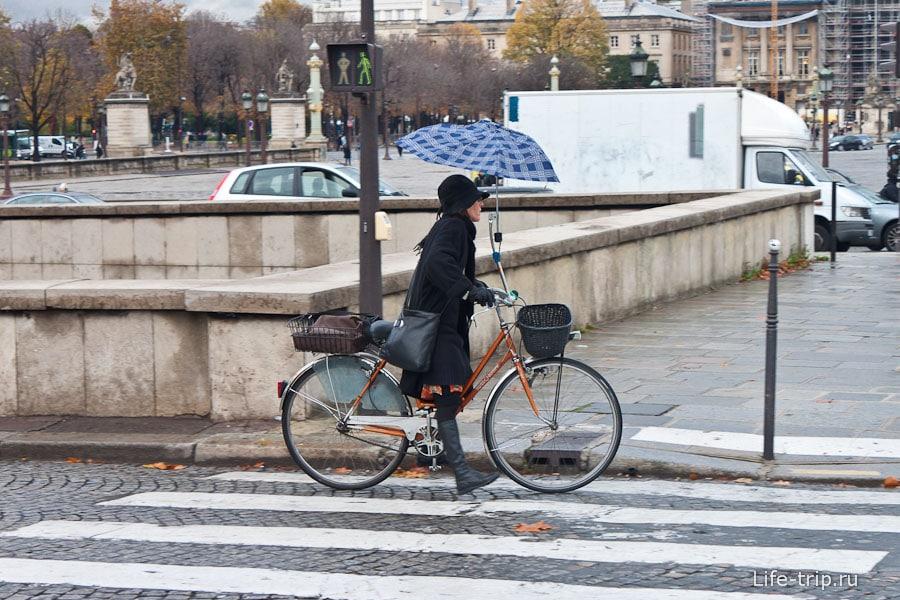 Парижане на улицах города