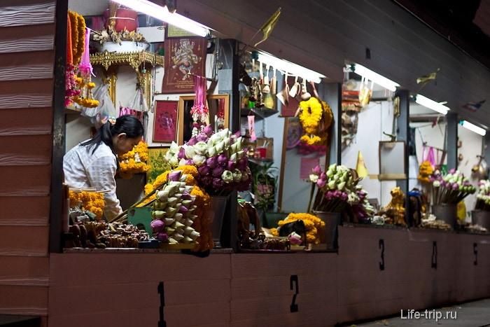 Киоски с цветочками