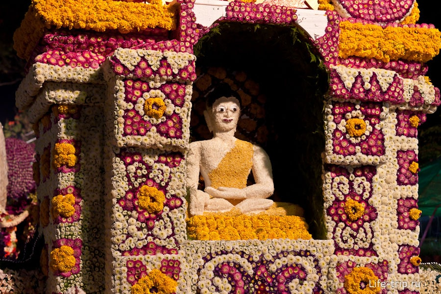 Цветочный Будда, фестиваль цветов Чиангмай