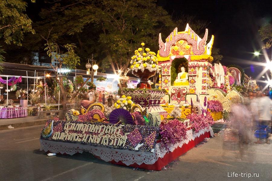 Цветочная повозка, фестиваль цветов Чиангмай