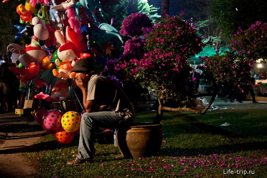 Фестиваль цветов Таиланда, в парке