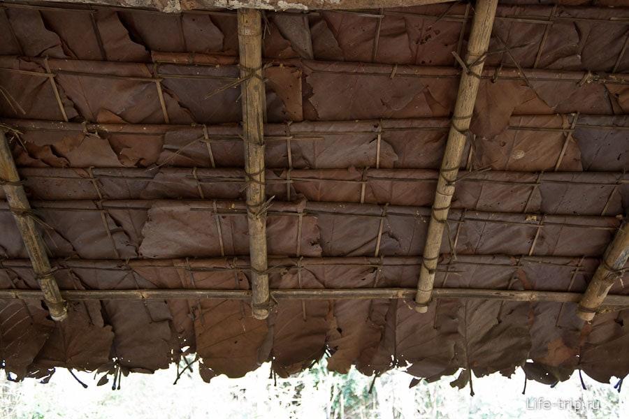 Устройство лиственной крыши