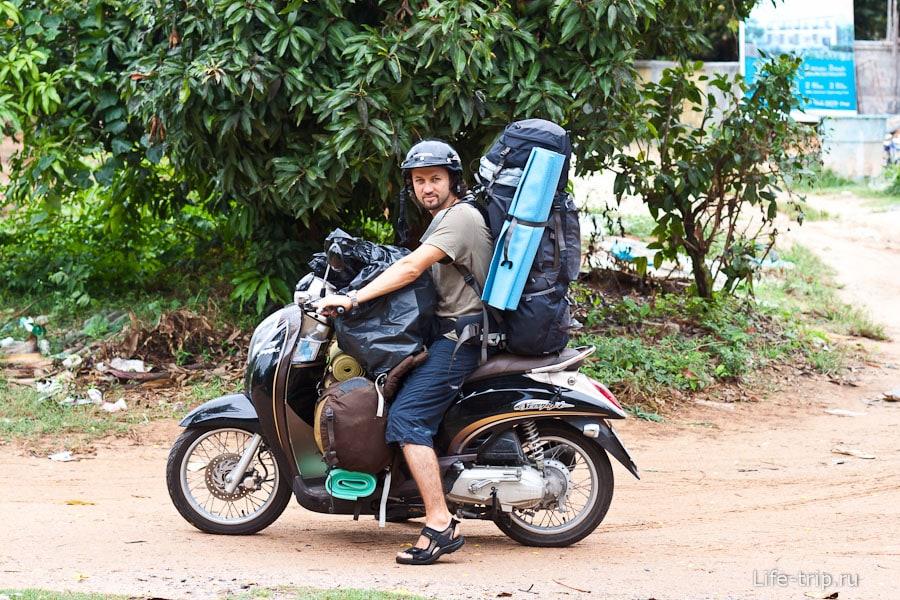 Перевозка грузов на мотобайке