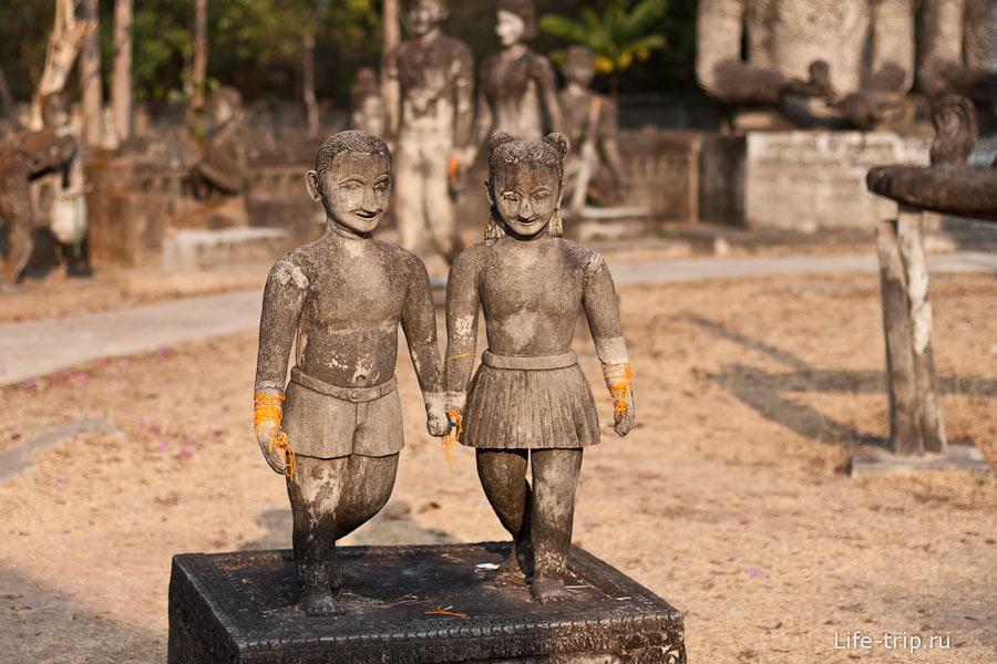 1. Жили-были два разнополых тайский пионера, но европейской внешности