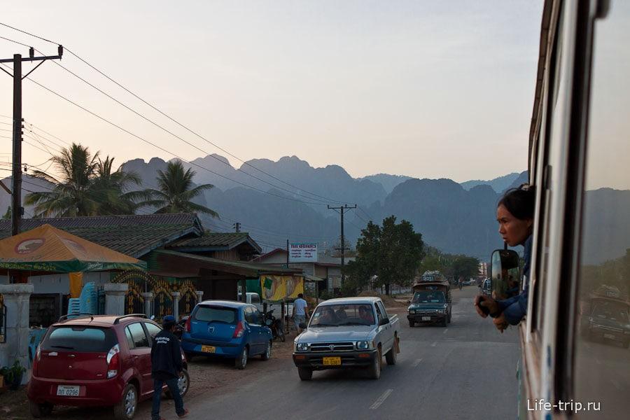 Въезжаем во Ванг Вьенг