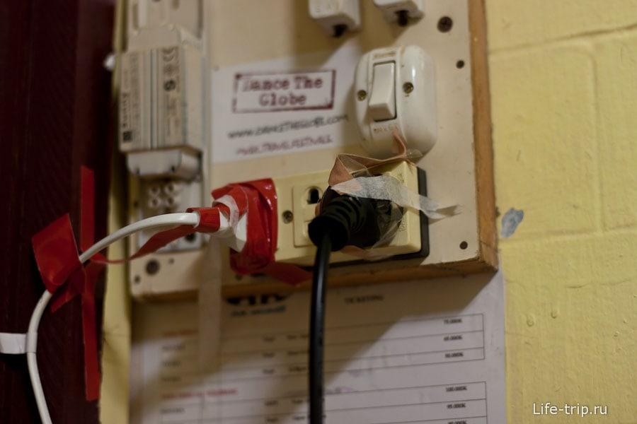 Результат нашей борьбы за электричество с розетками Лаоса