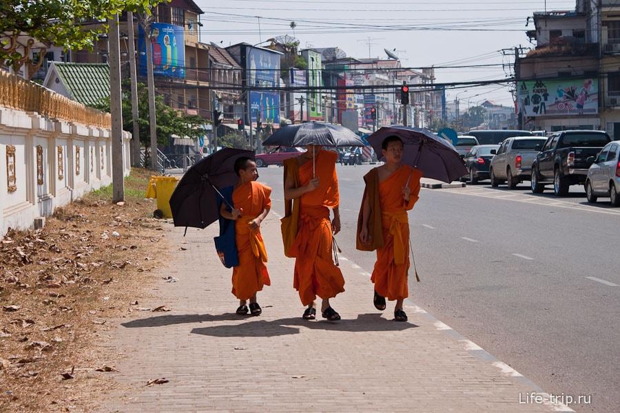 Все монахи с зонтиками