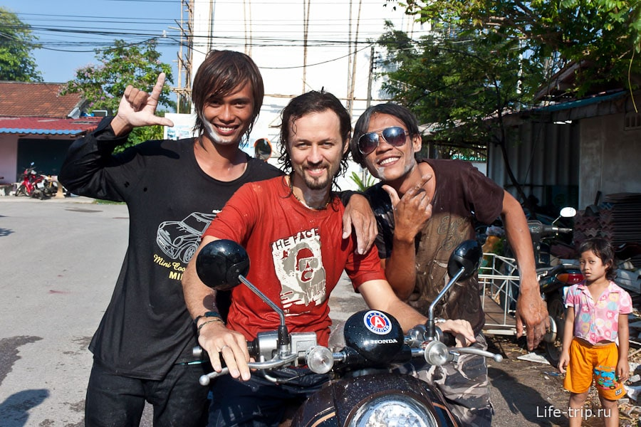 Я на празднике Сонгкран, Таиланд