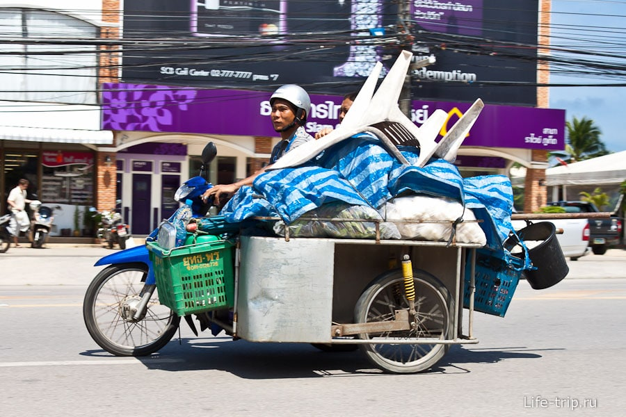 Байк с коляской