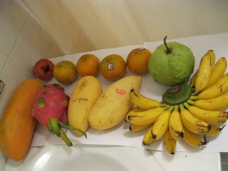 Самые обычные тайские фрукты на завтрак