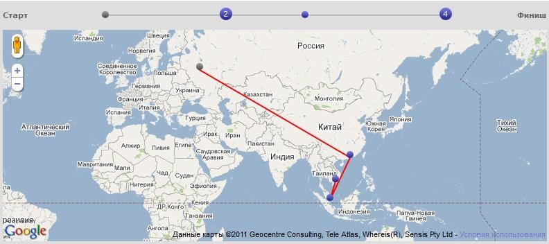 Интерактивная флеш-карта с возможностью перехода по точкам