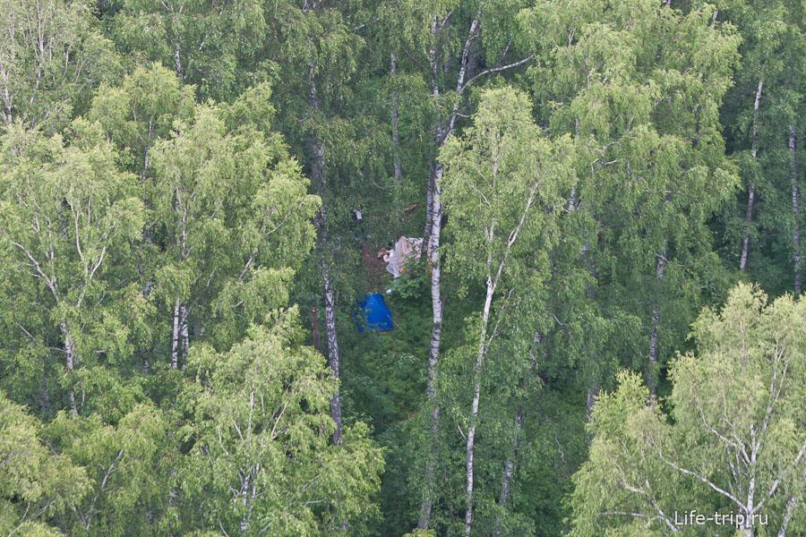 Если вы искали место под палатку, то вот оно