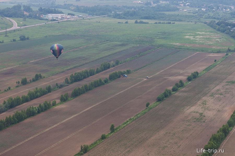 Полет на воздушном шаре подходит к концу