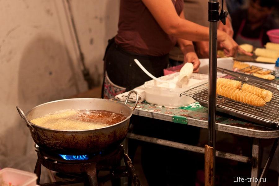 Приготовление картофельных чипсов
