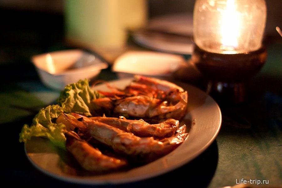 Креветочные монстры - тарелка за 300 бат
