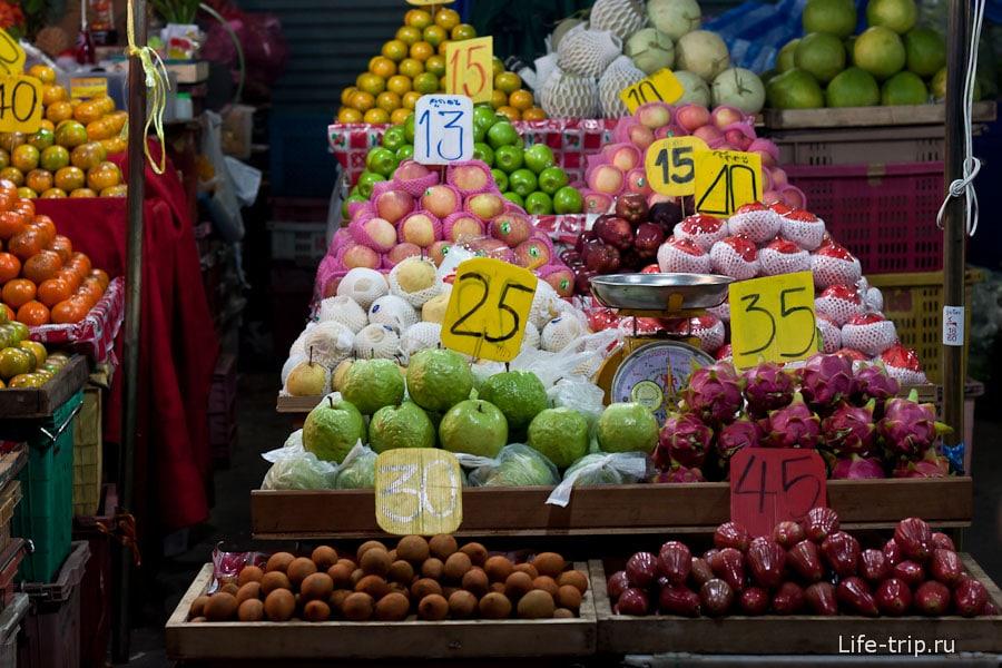 Цены в Тайланде на фрукты