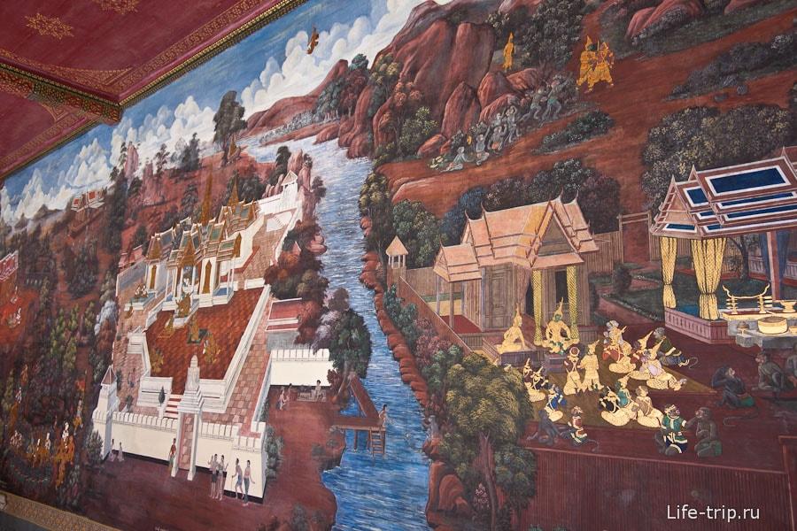 Некоторые стены все в картинах