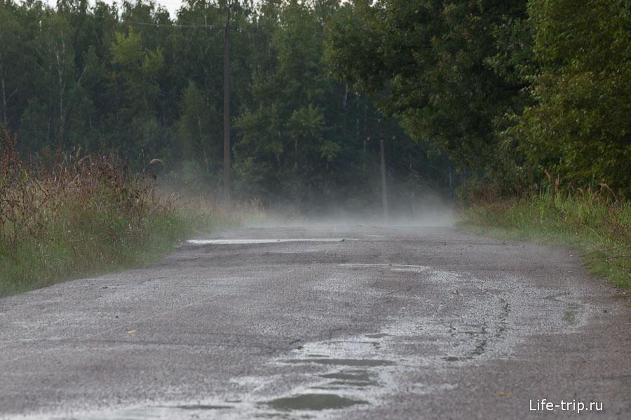 Асфальт после дождя