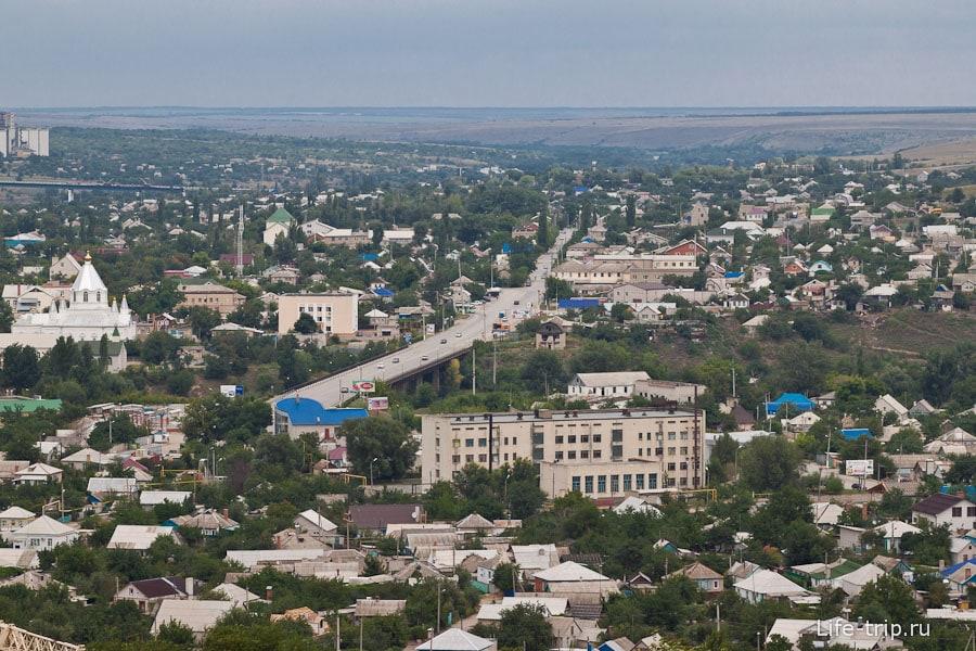 Вид с Караул-горы на город Белая Калитва