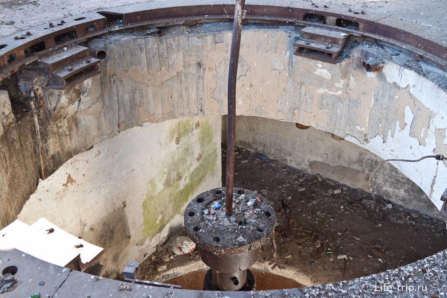 Дыра в полу от генератора