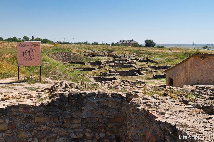 Остатки города Танаис