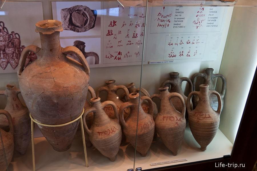Древние амфоры в музее