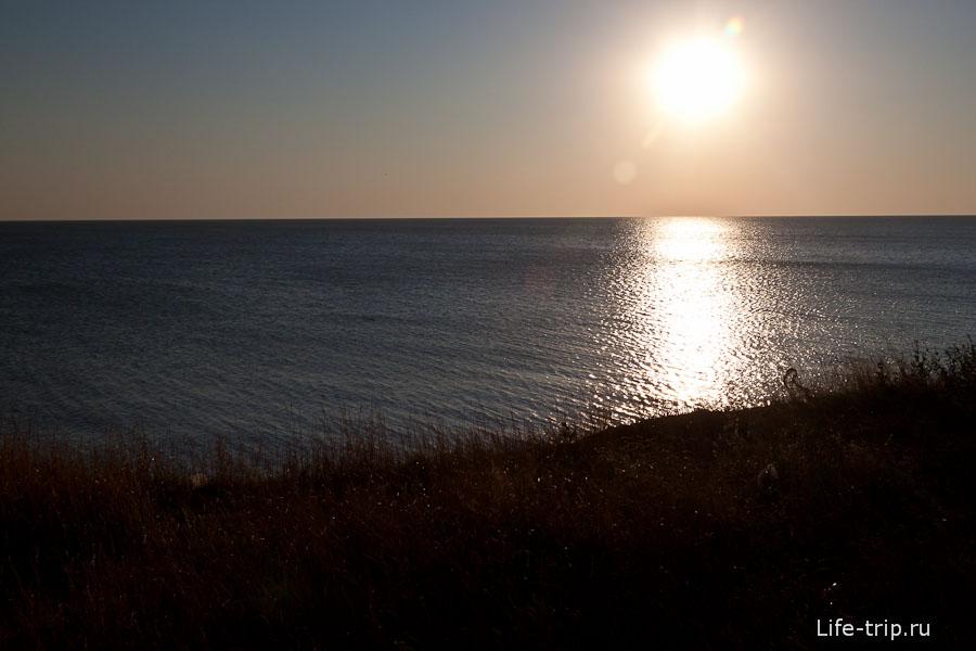 Типичный закат на Азовском море