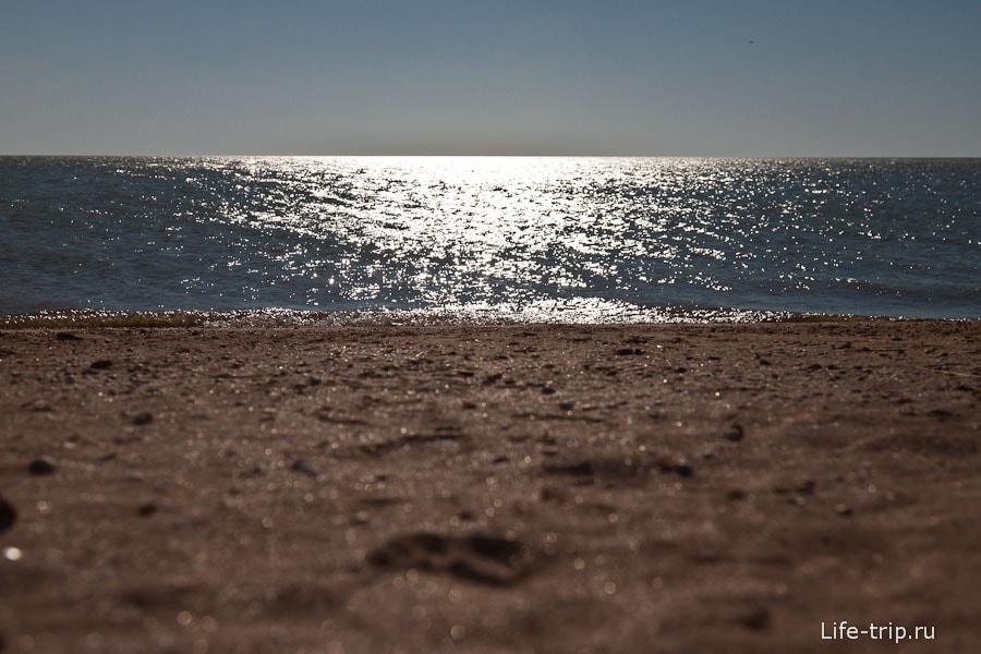 Пляж коса Долгая