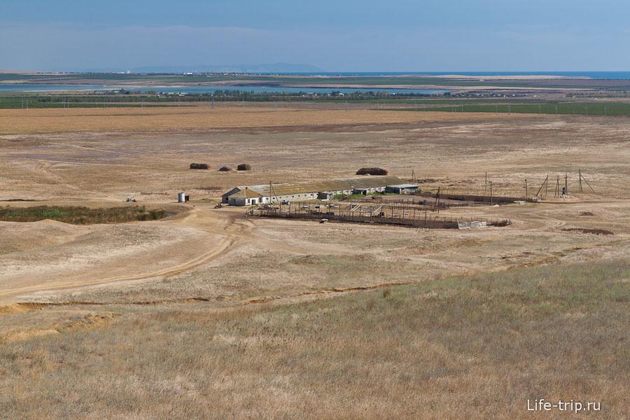 Вид сверху на поля