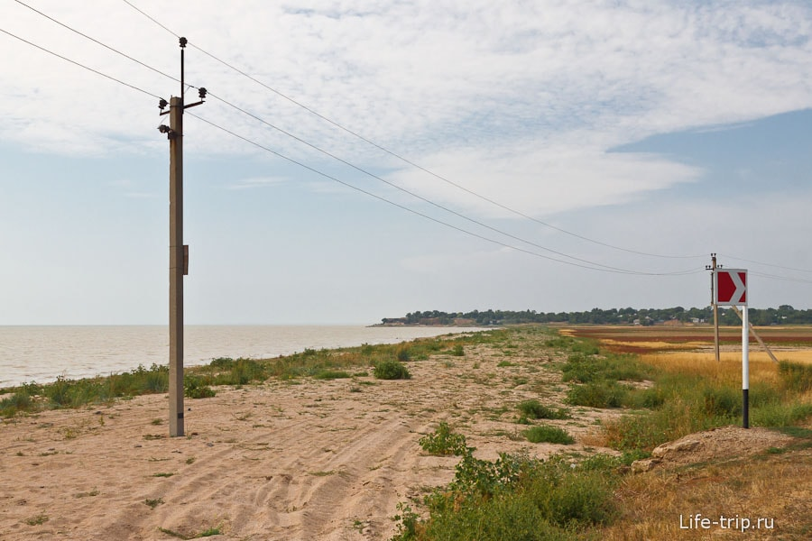 Азовское море и берег. Шиловка