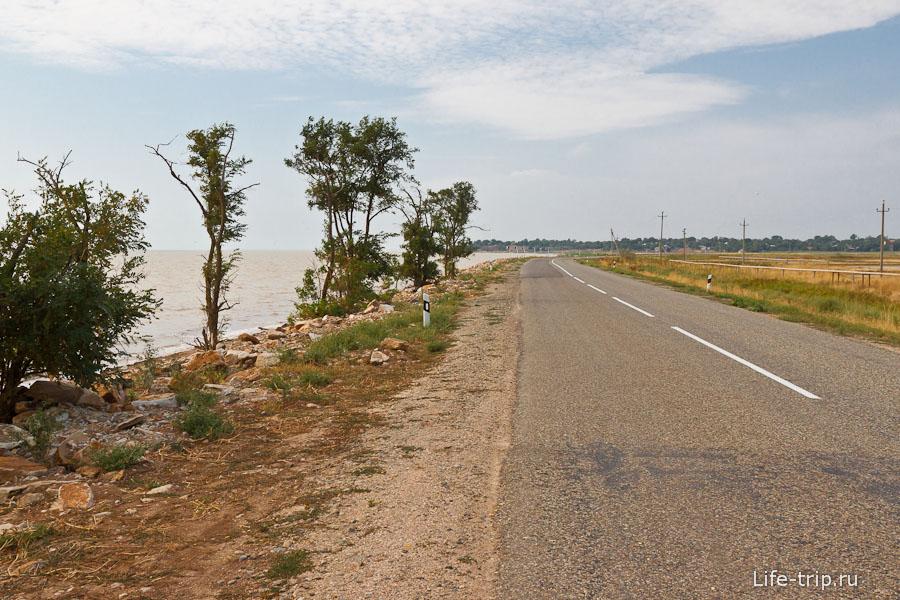 Дорога к Ясенеской переправе
