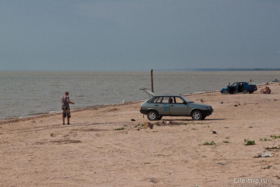 Пляж в Ясенской переправе