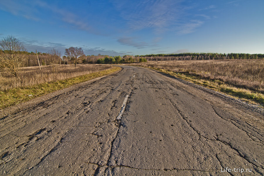Дорога до Николо-Ленивец Калужской области