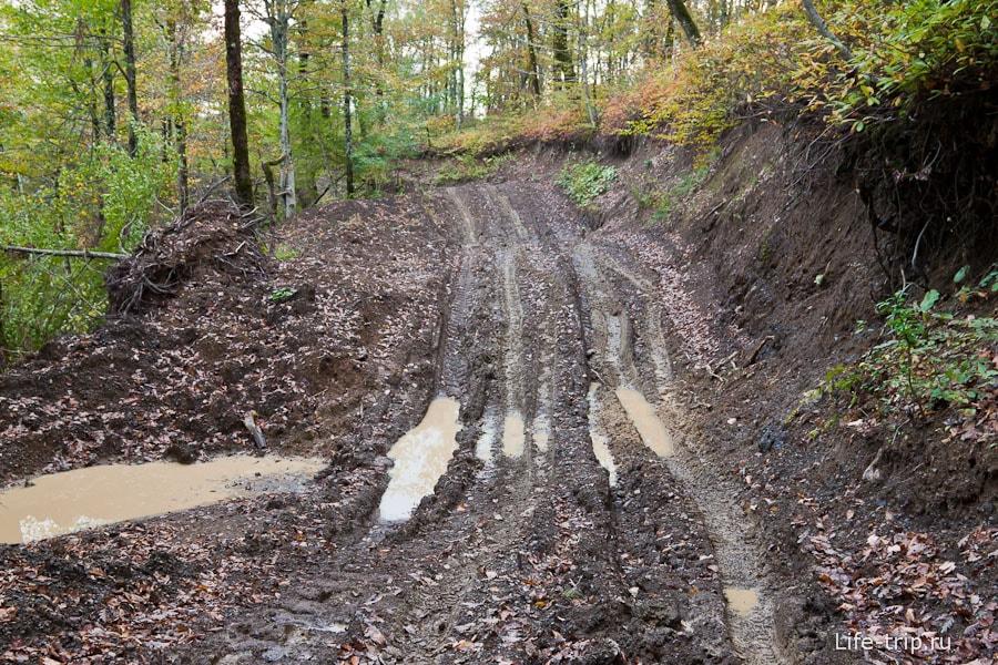 После дождей дороги размыло
