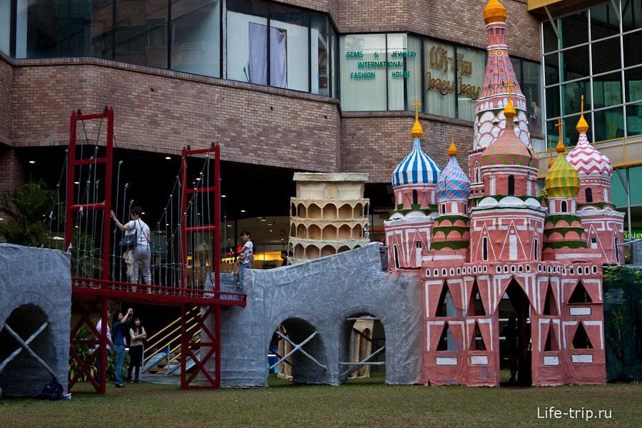 Собор Василия Блаженного переходит в мост Золотые ворота