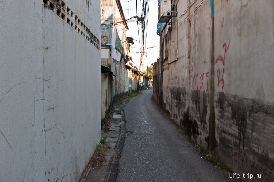 Узкие улочки Чианг Май