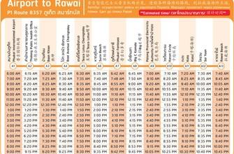 Расписание автобуса Аэропорт - Равай