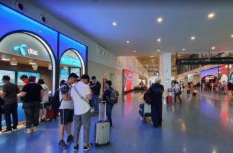 Стойка DTAC в международном терминале на 1-ом этаже