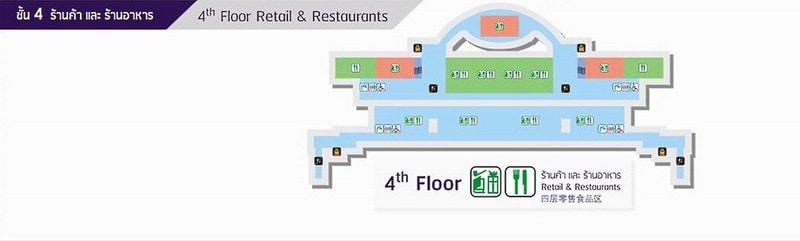 Четвертый этаж — магазины и рестораны