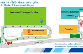 Карта расположения терминалов Пхукета
