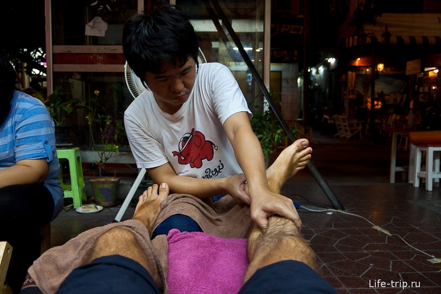 Тайский массаж ног в Бангкоке
