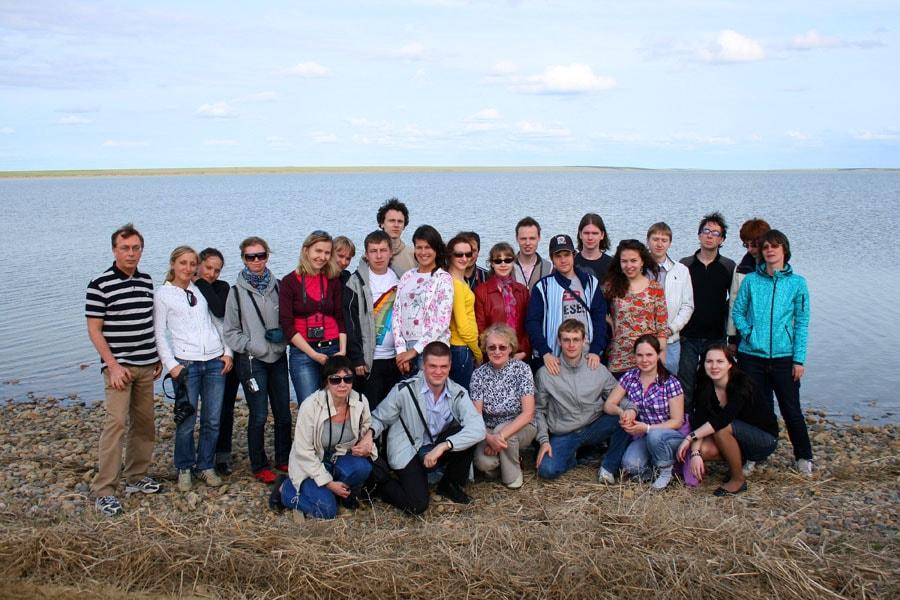На реликтовом озере Маныч-Гудило, граница Калмыкии и Ростовской области