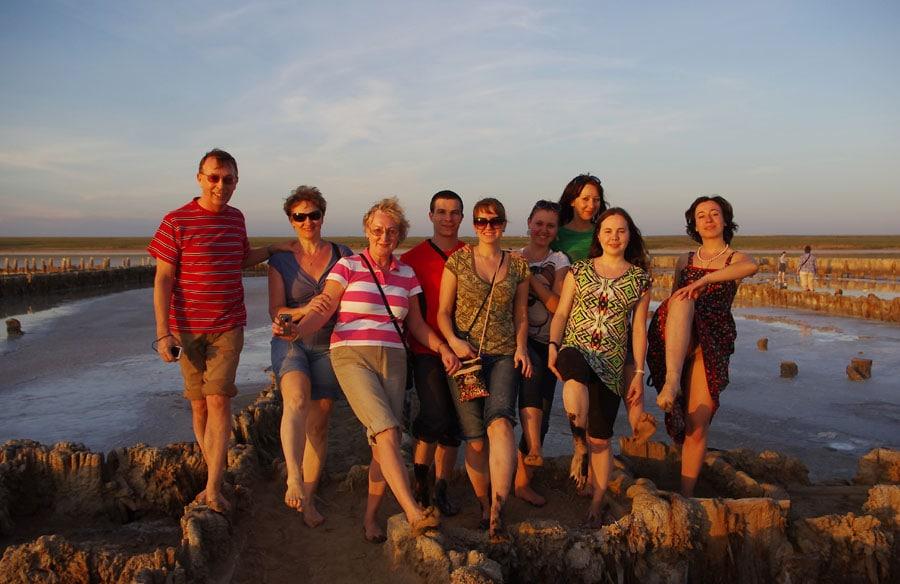 На солёном озере Эльтон, Волгоградская область
