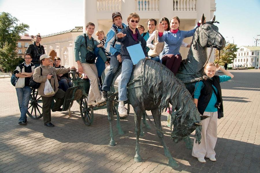 На экскурсии по Минску