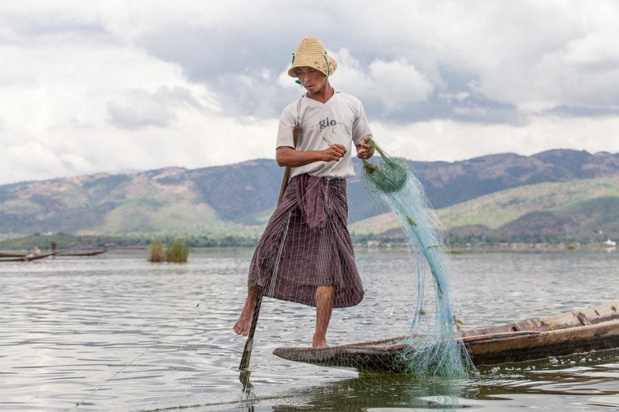 Озеро Инле в Маньяме (Бирма)