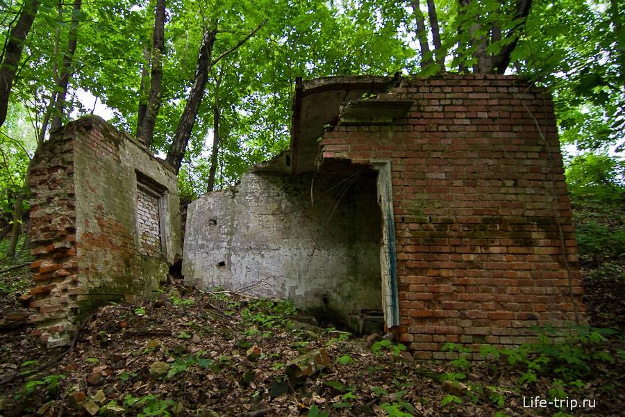 Непонятные современные развалины в лесу