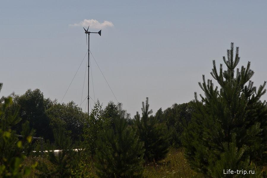 На данный момент в поселении всего два ветряка