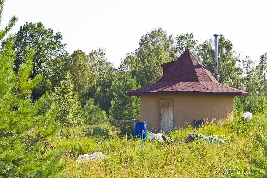 Круглый дом из самана